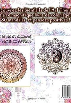 Livres Couvertures de Livre de coloriage pour adultes: 80 Mandalas & Pensées Positives