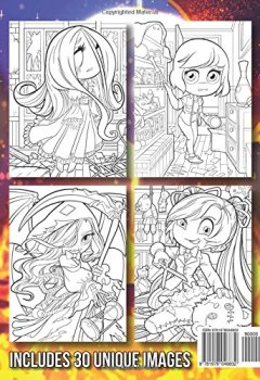 Livres Couvertures de Chibi Girls Horror: An Adult Coloring Book with Spooky Girls, Haunting Scenes, and Halloween Themes