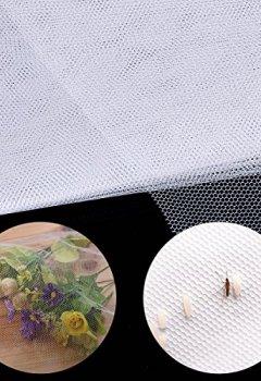 Livres Couvertures de moustiquaire fenetre, Elebor 2 packs 1.3 m x 1.5 m fenêtre Moustiquaire Filet en maille filet avec rouleau de ruban adhésif Blanc