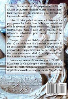 Livres Couvertures de PREPA CAPES MATHS 2018 Algèbre & Arithmétique