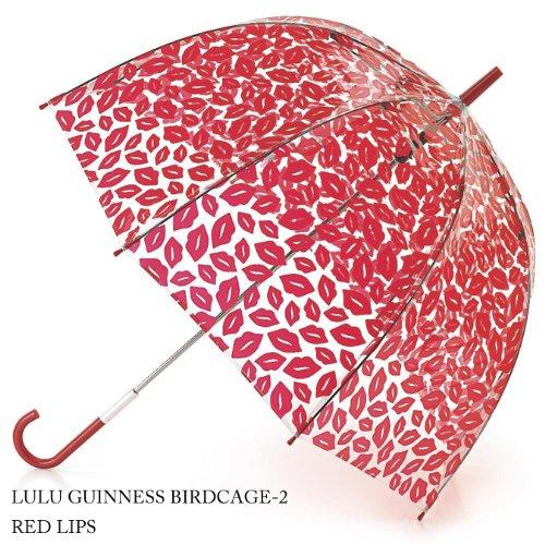 フルトン × ルルギネス Fulton Lulu Guinness アンブレラ 口紅 レッド リップ バードケージ コラボ 傘 [並行輸入品] L719 fultonl719redlips
