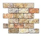 Scabos 2 X 4 Tumbled Travertine Brick Mosaic Tile