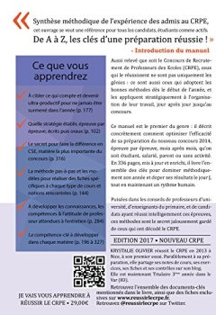 Livres Couvertures de Je Vais Vous Apprendre à Réussir le CRPE - EDITION 2017 - Méthodes & Savoir-faire pour Réussir le Concours de Professeur des Ecoles (ESPE ou candidat libre)