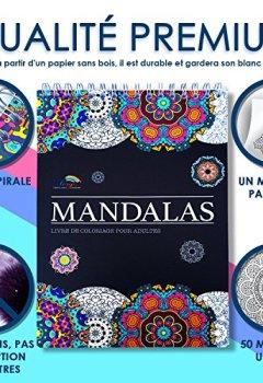 Livres Couvertures de Livre de Coloriage Adultes Mandalas Anti-Stress: le Premier Cahier de Coloriage à Spirale et Papier Artiste par Colorya