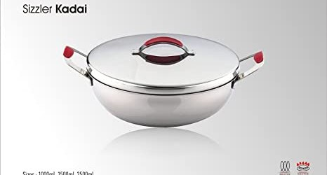 Pigeon Sizzler Series Kadai with S.S Lid, 1 Litre