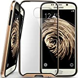 Galaxy S6 case, Caseology® [Dual Bumper Clear back] [Gold] DIY Customization Fusion Hybrid Cover [Shock Absorbent] Samsung Galaxy S6 case