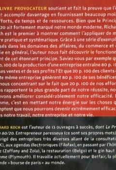 Livres Couvertures de LE PRINCIPE 80/20 FAIRE PLUS AVEC MOINS