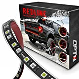 """48/60"""" Redline Flexible LED Tailgate Light Bar - TriCore LED - Weatherproof No-Drill Install - Full Featured Reverse Brake Running w/RED Turn Signal 2yr Warranty [60-Inch]"""