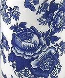 Fine English Bone China Breakfast Cup and Saucer - Blue Rose Victoriana - Roy Kirkham, England