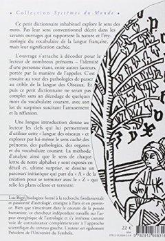 Livres Couvertures de Petit dictionnaire en langue des Oiseaux - Prénoms, pathologies et quelques autres