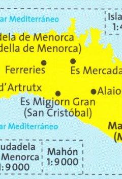 Livres Couvertures de Minorque 1:50.000 (Espagne, Iles Baléares) randonnée topographique et carte cycliste # 243