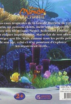 Livres Couvertures de Nemo, DISNEY MONDE ENCHANTE