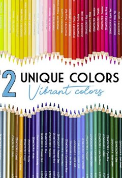 Livres Couvertures de 72 Crayons de Couleur (Numérotés) avec Boite Métallique Zenacolor - Set de 72 Couleurs Uniques et Pré-taillés pour Coloriage Adulte et Dessin - Rangement Facile avec 3 Etuis Différents - Cadeau Idéal pour Artistes, Adultes et Enfants