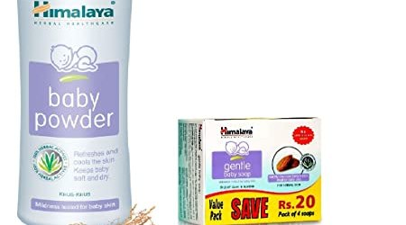 Himalaya Baby Powder, 400 g with Soap Value Pack, 75 g
