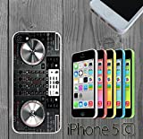 DJ controller Mixer Custom made Case/Cover/skin FOR iPhone 5C - White - Rubber Case ( Ship From CA)