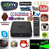 MXQ Amlogic S805 Quad Core Android 4.4 Smart 1080p Hdmi 4k Free Mx M8 Tv Streaming Box Kodi Xbmc 1gb/8gb