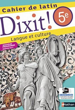 Livres Couvertures de Dixit ! Cahier de latin 5e