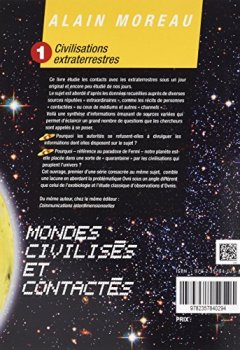 Livres Couvertures de Civilisations extraterrestres : Tome 1 : Mondes habités et contactés