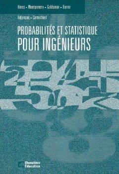 Livres Couvertures de Probabilités et statistique pour ingénieurs - manuel
