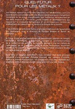 Livres Couvertures de Quel futur pour les métaux ? : Raréfaction des métaux : un nouveau défi pour la société