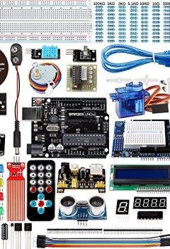 Livres Couvertures de Smraza Kit pour Arduino Projects avec Servo Motor, UNO R3 Board et Module Capteur avec Guide D'utilisation pour Arduino UNO R3 Mega2560 NANO (27 Projects)