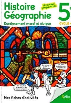 Livres Couvertures de Mes fiches d'activités d'Histoire Géographie EMC 5ème