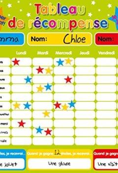 Livres Couvertures de Récompense magnétique / Star / Tableau des responsabilités / de comportement pour jusqu'à 3 enfants. Planche rigide de 16