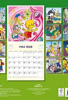 Livres Couvertures de The Simpsons Official 2019 Calendar - Square Wall Calendar Format