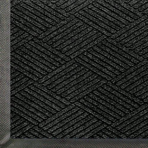 """Andersen 2295 WaterHog Eco Premier PET Polyester Fiber Entrance Indoor/Outdoor Floor Mat, SBR Rubber Backing, 3' Length x 2' Width, 3/8"""" Thick, Black Smoke"""