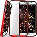 Galaxy S6 case, Caseology® [Dual Bumper Clear back] [Red] DIY Customization Fusion Hybrid Cover [Shock Absorbent] Samsung Galaxy S6 case