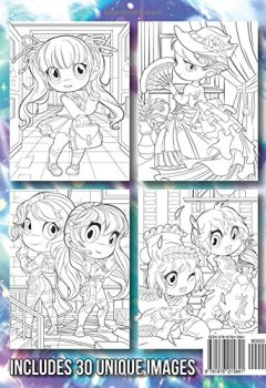 Livres Couvertures de Chibi Girls 2: A Cute Coloring Book with Adorable Girls, Playful Scenes, and Fun Adventures