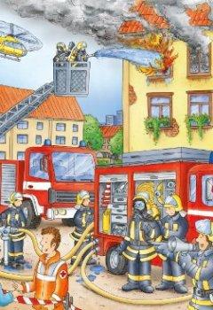 Livres Couvertures de Ravensburger - 10822 - Puzzle XXL - Les pompiers - 100 pièces