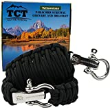 Paracord Grenade And Paracord Bracelet Set By The Camping Trail. Over 21 Ft Of Paracord And 17 Pieces Make This Great Survival Gear To Carry. This Survival Kit Makes A Great Xmas Gift For Men (Black)