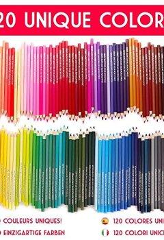 Livres Couvertures de 120 crayons de couleur avec boîte en métal Zenacolor - 120 couleurs uniques - Rangement facile avec 3 différents étuis - Set idéal pour artistes, adultes et enfants