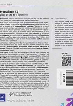 Livres Couvertures de Prestashop 1.6 - Créer un site de e-commerce