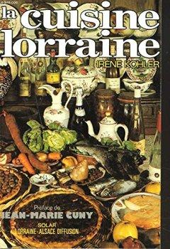 Livres Couvertures de La Cuisine lorraine