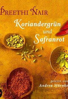 Buchdeckel von Koriandergrün und Safranrot