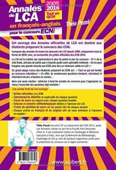 Livres Couvertures de Annales de LCA en français-anglais pour le concours ECNi - 2009 à 2016 - 9 dossiers tout en QCM
