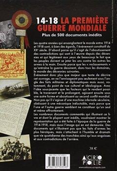 Livres Couvertures de 14-18, la Première guerre mondiale : Plus de 500 documents inédits