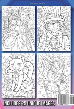 Livres Couvertures de Alice in Wonderland: An Adult Coloring Book with Fun, Relaxing, and Beautiful Coloring Pages