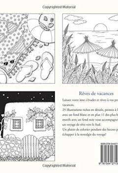 Livres Couvertures de Rêves de vacances: Un livre de coloriage destiné au rêve et à la détente. Des motifs de vacances en Méditerranée: l'été, le soleil, la plage et la mer.