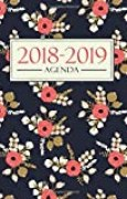 Agenda 2018-2019: 19x23cm : Agenda 2018 2019 semainier : Motif floral 3391
