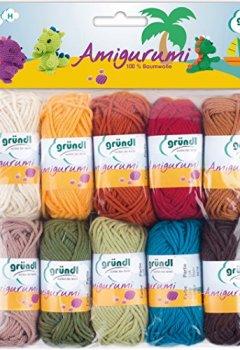 Livres Couvertures de Gründl Amigurumi - Set III  Fil à tricoter Coton Multicolore 19,50 x 18,00 x 2,60 cm