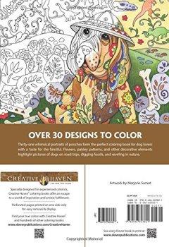 Livres Couvertures de Dazzling Dogs Coloring Book
