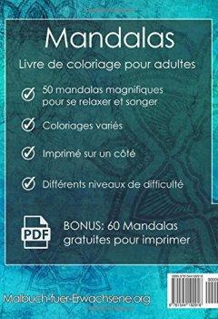 Livres Couvertures de Mandala Livre de coloriage pour adultes: Anti Stress + 60 Mandalas gratuites (PDF)