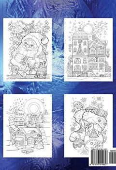Livres Couvertures de Adult Coloring Book: Nice Little Town Christmas