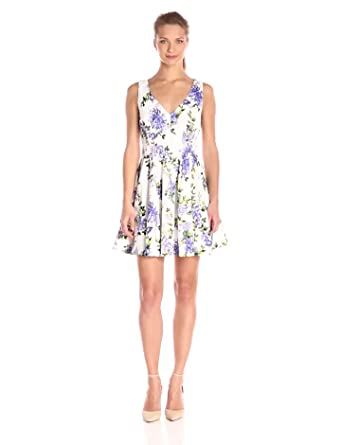 Floral Dress: Ark & Co Womens Floral Print Fit-and-Flare Dress