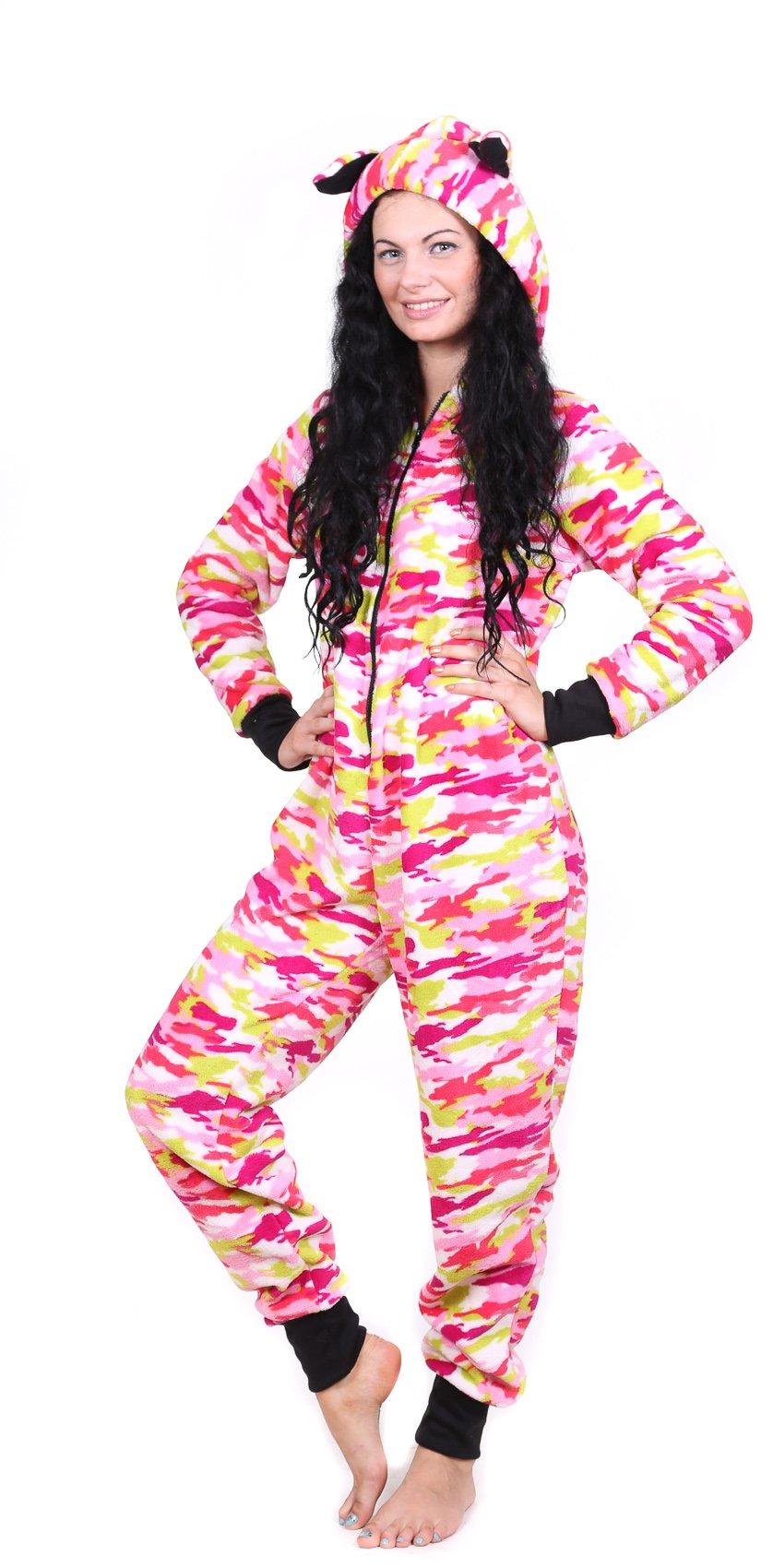 Totally Pink Women's Warm and Cozy Plush Onesie Pajama