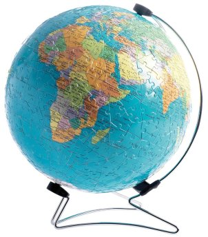 Desk Globe: The world sphere puzzle. Put the pieces together on the sphere.