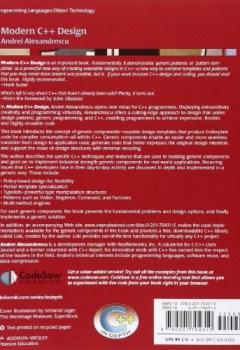 Livres Couvertures de Modern C++ Design: Generic Programming and Design Patterns Applied